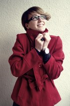 Topshop coat - Zara sweater - Esprit watch - c&a ring