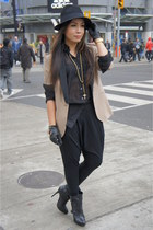 H&M hat - Zara blazer - H&M shirt - Forever 21 pants - FCUK gloves