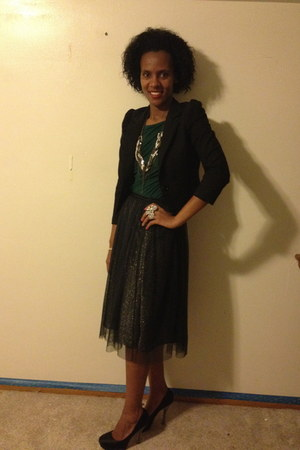 grey to layered Zara skirt - black Steve Madden shoes - Zara shirt