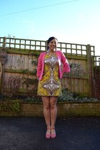hot pink vintage jacket - yellow Principles by Ben De Lisi dress