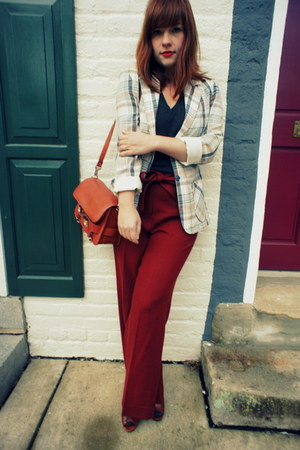JCrew pants - vintage jacket - PROENZA SCHOULER bag - American Apparel t-shirt