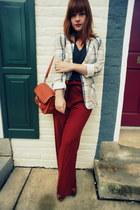 JCrew pants - vintage jacket - PROENZA SCHOULER bag - American Apparel t-shirt