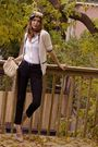 Beige-aldo-shoes-white-pink-tartan-cardigan-white-club-monaco-shirt-black-