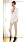 Beige-talulah-pants-black-spring-shoes-white-h-m-top-gold-vintage-necklace