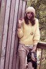Yellow-thrifted-blouse-yellow-thrifted-sweater-beige-talulah-pants-black-f