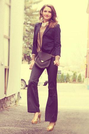 mustard Halston heels