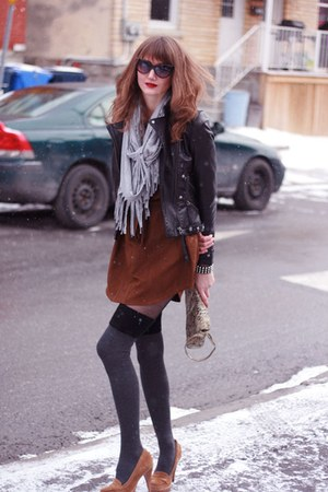 black Sandra Angelozzi jacket - burnt orange Michael Kors shoes