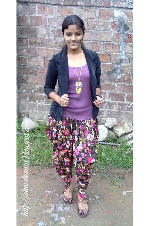 dhoti pants brandless pants - corduroy unknown blazer - tank top unknown vest