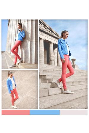 flats RMK shoes - jeans Zara jacket - skinny jeans James Jeans pants