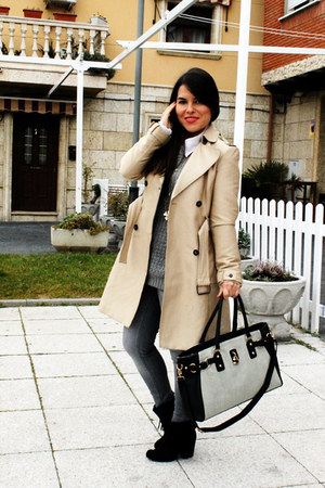 Zara jacket - Deichmann bag - Zara jumper