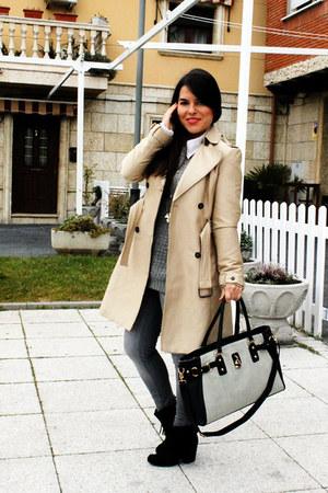 Deichmann bag - Zara jacket - Zara jumper