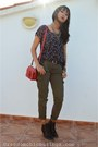 Dark-brown-laceup-boots-vintage-boots-ruby-red-leather-bag-zara-bag