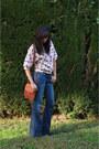Dark-brown-vintage-boots-blue-flarebohohippie-current-elliott-jeans