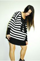 black striped bow sweater sweater