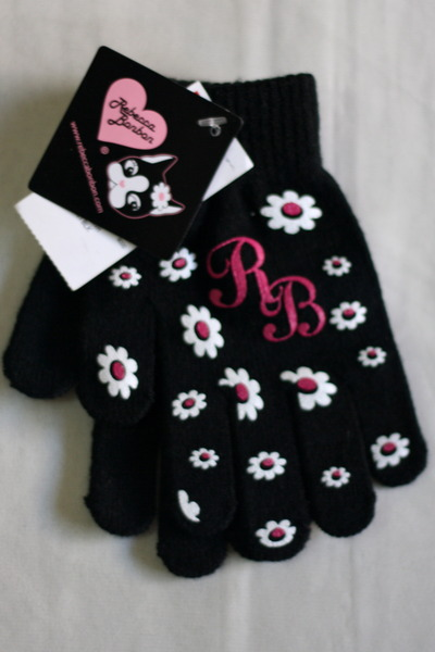 black daisy print Rebecca Bonbon gloves