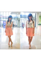 dress - bow wedges