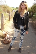 All Saints jacket - unknown brand top - Levis jeans - sam edelman shoes