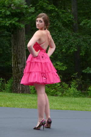 pink Betsey Johnson dress - black Betsey Johnson shoes - black Forever 21 access