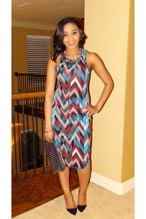 Nordstrom dress - Zara bag - DSW heels