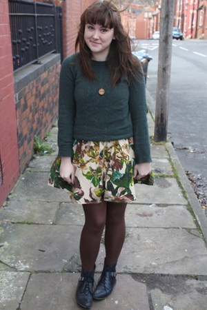 Urban Outfitters dress - green Zara jumper