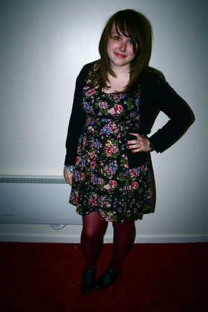 Dorothy Perkins dress - Primark tights - H&M cardigan