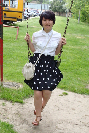 H&M skirt - sears shirt - sears shoes - H&M purse