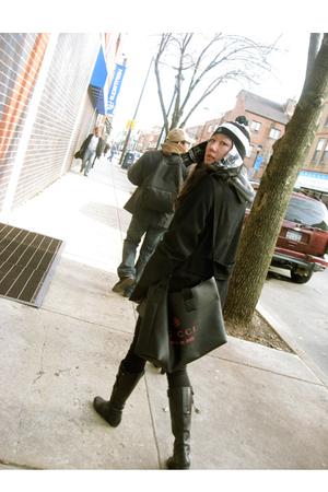black vivienne westwood hat - Marc by Marc Jacobs coat - Gucci purse