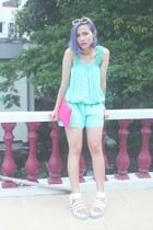 hot pink sling bag Color Box bag - light yellow round sunglasses