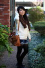 Boots-sweater-tights-scarf-shorts