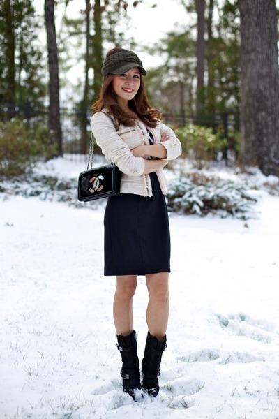 Jigott blazer - Baldinini Taend boots - White House Black Market dress