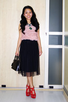 black tulle Topshop skirt - black alma bb Louis Vuitton bag