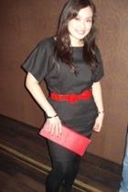 Zara dress - YSL belt - maldita purse - Promod leggings - Zara shoes