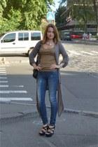 Jessica Simpson heels - Bershka jeans - taijl waill top - cardigan