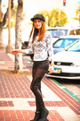 Black-black-boots-black-mash-leggings-white-lace-and-bow-blouse