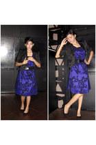deep purple Meg dress - black Meg blazer