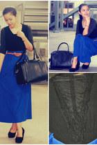 Pop culture skirt - Malaysian top - Mango belt
