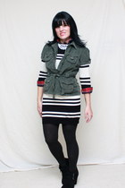 black Mossimo shoes - black Dress dress - army green Jolt jacket