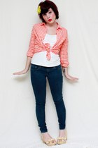 navy abercrombie & fitch leggings - carrot orange Old Navy shirt