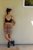 stretch tie dye skirt - bracelet