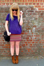 Black-vintage-jane-shilton-bag-red-aztec-matalan-skirt-purple-velvet-next-to