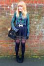 Forest-green-levis-shirt-black-topshop-tights-black-jane-shilton-vintage-pur