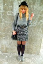 next shoes - H&M hat - next tights - Dahlia belt - H&M skirt - vintage blouse