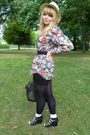 Floral-shirt-black-h-m-dress