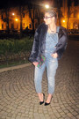 Pull-bear-jeans-navy-fake-fur-zara-jacket-holographic-terranova-purse