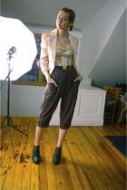 beige Charlotte Russe blazer - orange calvin klein shirt - beige vintage intimat