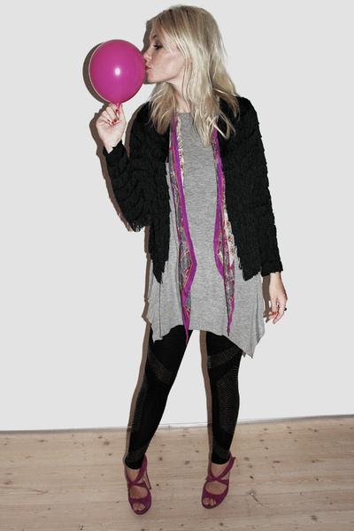 Kate Moss for Topshop jacket - Topshop leggings - Nicholas Kirkwood shoes