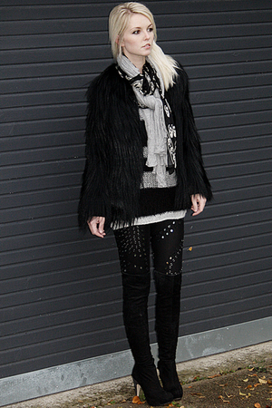 Topshop coat - Christopher Kane for Topshop leggings - Topshop boots