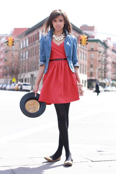 asos dress - H&M hat - Forever 21 blazer