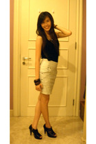 Mitchybelle top - Zara skirt - belle shoes - Forever21 necklace - Forever21 brac
