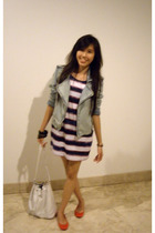 pull&bear jacket - Zara dress - Forever21 bracelet - Zara shoes